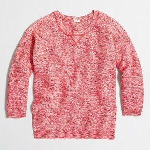 J. Crew marled seedstitched pullover